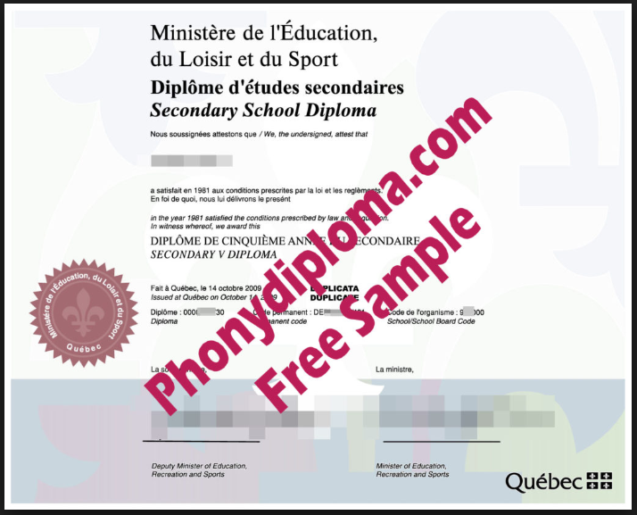 Secondary school diploma